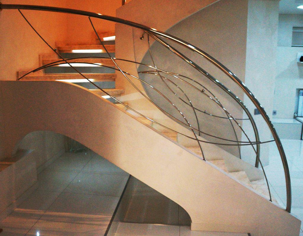 перила для лестниц из нержавейки