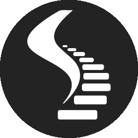 Мини логотип дизайн студии Эклест: лестницы, камины,ограждения.