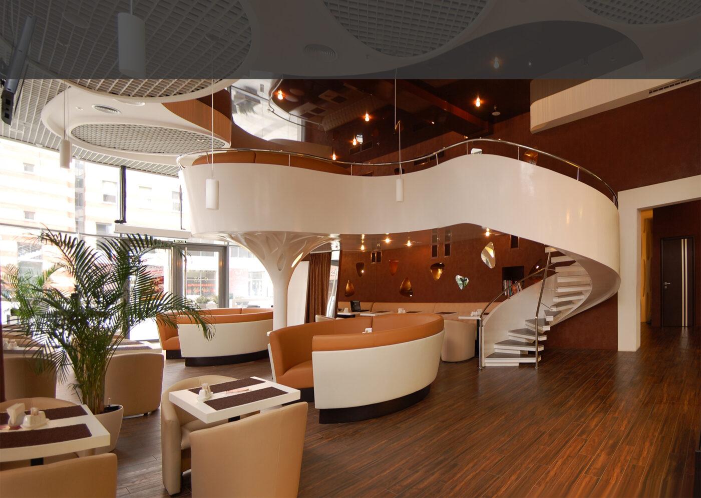 Винтовая лестница, Железобетонная конструкция, Накрывка ступени кафель
